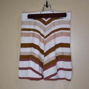Free People Sweater Skater Skirt blush tan Large